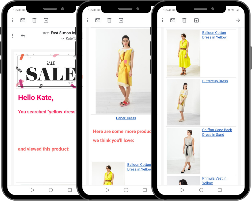 Fast Simon - Klaviyo - personalized emails