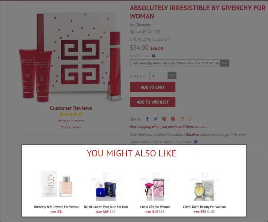 Perfume upsell